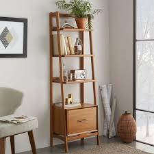narrow wood bookcase mid century bookshelf narrow acorn west elm au