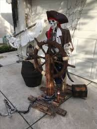 Pirate Decorations Homemade Pirate Skeleton Drinking From A Bottle Fountain Display Pirate
