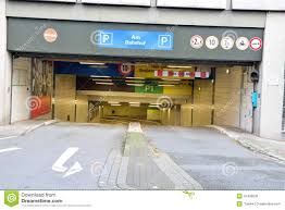 entrance to underground parking german garage editorial image editorial stock photo download entrance to underground parking german garage