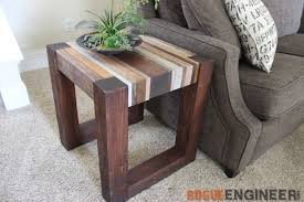 Wood Side Table Scrap Wood Side Table Free Diy Tutorial Rogue Engineer