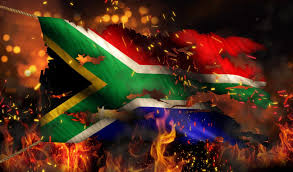 Flag On Fire South Africa Is Burning U2013 In Pictures The African Exponent