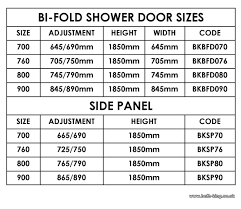 bi fold shower door bath king