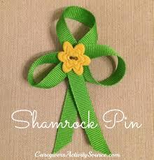 shamrock ribbon shamrock pin craft