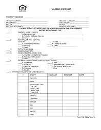 Home Inspection Template Excel Estate Closing Checklist Template Excel Pdf