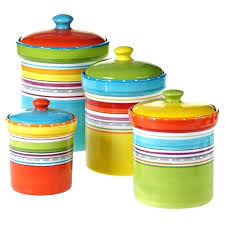 colored glass kitchen canisters colorful kitchen canisters sets green white stripe ceramic kitchen