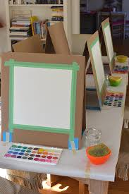 how to make a simple table top easel diy cardboard easel artbar