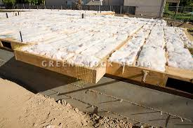 fiberglass batt insulation of residential home green stock media