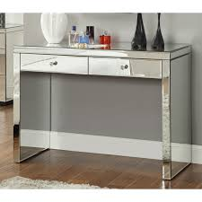 mirrored console vanity table rio crystal mirrored 2 drawer dressing table console