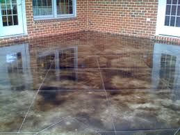 Patio Paint Concrete by Diy Stained Patio Learn To Stain Concrete What Type Of Stain