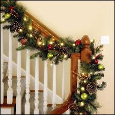 Christmas Decorations Banister Pretty Christmas Staircase Decorating To Make Beautify Your