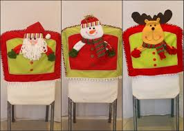 christmas chair covers lovely christmas chair covers 3 pcs lot santa claus snowman