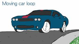teal car clipart moving car loop animation youtube clip art library