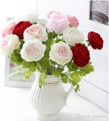 Wedding Bouquets Cheap 2017 Artificial Flower Arrangements Peony Artificial Wedding
