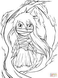 chibi mugetsu from manga bleach coloring page free printable
