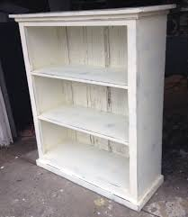 White Bookcase Ideas Distressed White Bookshelf Sresellpro