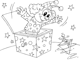 coloring page clown in box img 22826