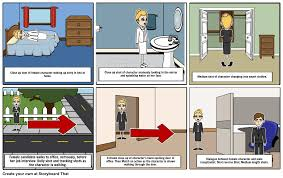 home to office preliminary task short film storyboard storyboard