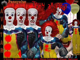 second life marketplace male avatar pennywise the it scary