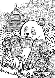 panda coloring pages for adults coloringstar
