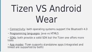 tizen vs android webrtc communication and wearable devices