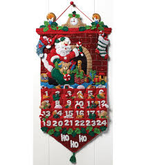 must be santa advent calendar felt applique kit 13 x25 joann