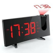 light projection alarm clock projection alarm clock radio student bedside snooze backlight red