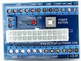 24 20 pin atx computer pc power supply bench top power board