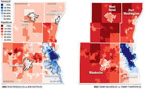 Wisconsin Election Map by Dividing Lines Special Report As Split Ticket Voting Dies