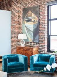 Funky Armchairs Cool Down Your Design With Blue Velvet Furniture Hgtv U0027s