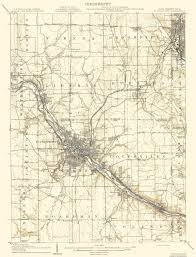 Ohio Pennsylvania Map by Old Topographical Map Youngstown Pennsylvania 1908