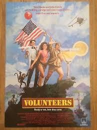VOLUNTEERS 1985 ORIGINAL British UK Film Poster Tom Hanks John Candy