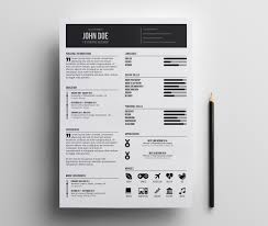 Resume Indesign Template Free Minimal Resume Template Minimalist Simple Clean