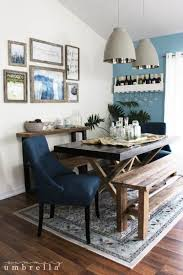 build a rustic dining room table rustic dining room update the summery umbrella