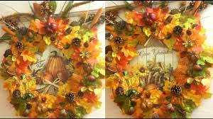 diy fall thanksgiving wreath using dollar tree brands