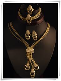 gold plated simple necklace images 18k gold plated square simple design crystal jewelry sets bridal jpg