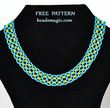 necklace pattern images Free pattern for beaded necklace astrid beads magic jpg