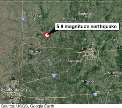 Pawnee Oklahoma Map 5 6 Earthquake 2016 Has Two Of Largest Four Quakes In State