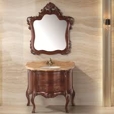 Solid Wood Bathroom Cabinet European Design Retrial And Wholesale Shape Solid Wood