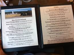 Old Faithful Inn Picture Of Old Faithful Inn Dining Room - Old faithful inn dining room menu