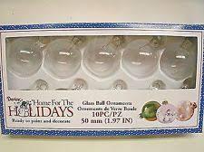 clear glass ornaments ebay