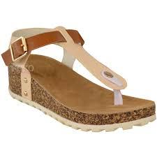 Comfort Sandals For Women New Ladies Womens Wedge Comfort Sandals Cushioned Flip Flops