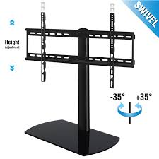 universal table top stand universal tabletop tv stand pedestal base swivel wall mount for 32