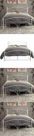 bed frames wrought iron bed frame queen queen iron headboard
