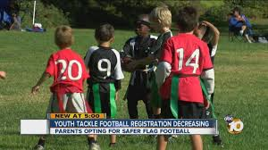 Youth Flag Football Practice Flag Football Participation On The Rise As Parents Guard Children