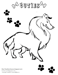 creative cuties collie coloring page pet expo 2011