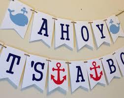 Innovative Decoration Ahoy Its A Boy Baby Shower Classy Ideas Etsy