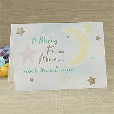 blessing cards personalized new baby greeting cards blessing from above