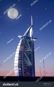 hotel burj al arab dubai full stock illustration 20998612