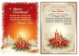 elegant christmas greeting card free download festival vector