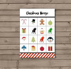 merry christmas free printable christmas bingo cards u2013